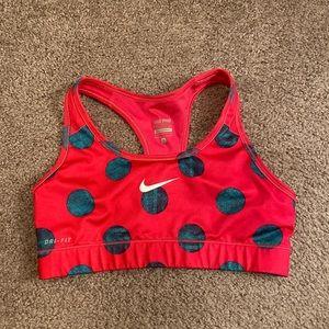 Nike Pro Sports Bra Polka Dot Women's size small